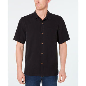 New Tommy Bahama Black Silk Button Up Skirt